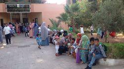A Marrakech, des enfants non scolarisés manifestent pour une place à