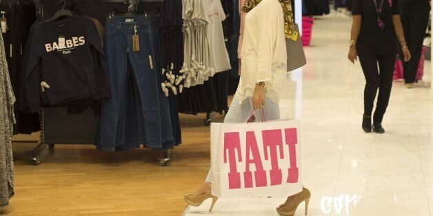 A customer walks inside the Tati store in Morocco's coastal city of Casablanca on September 01 ,2016...