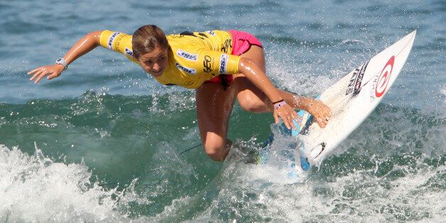 La Française Pauline Ado a été sacrée pour la 3e année consécutive championne d'Europe de la World Surf