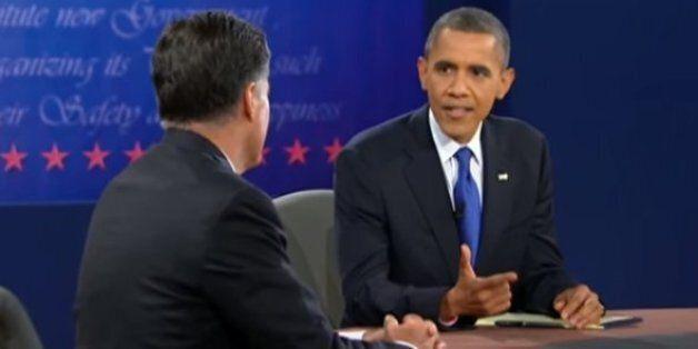 Barack Obama face à Mitt Romney en