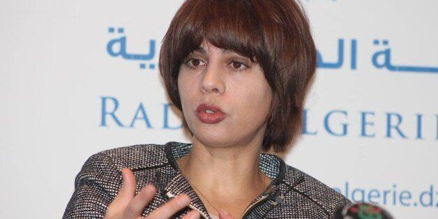 Algerian Communications Minister, Houda-Imane Feraoun, attends a parliamentary session to adopt a package...