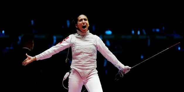 2016 Rio Olympics - Fencing - Final - Women's Foil Individual Bronze Medal Bout - Carioca Arena 3 - Rio...