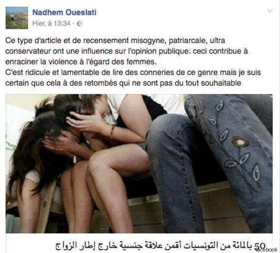 80% des hommes et 50% des femmes tunisiennes entretiennent des relations extra-conjugales? La réaction...