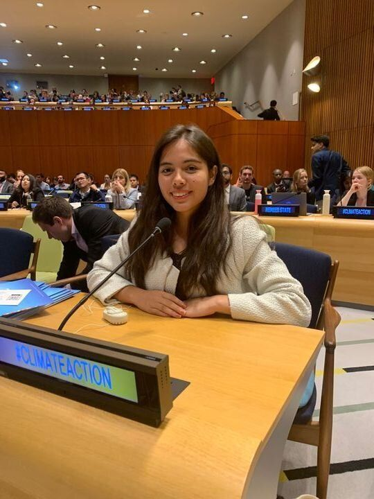 Xiye Bastida at the U.N. Youth Climate Summit.