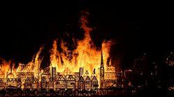 L'impressionnante commémoration du grand incendie de
