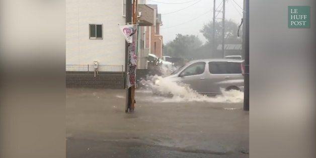 Trains qui déraillent et avions bloqués par les pluies diluviennes: les images du typhon Mindulle qui...