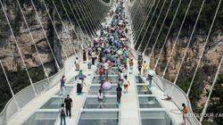 Voici le nouveau pont piéton le plus haut et le plus long au monde et il est en verre