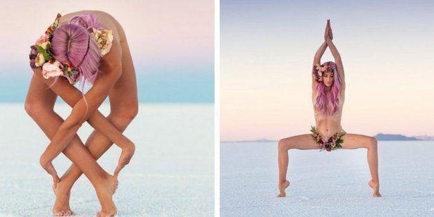 Elle fait des poses incroyables de yoga pour combattre ses problèmes