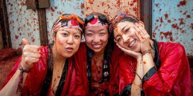 Des participantes asiatiques au festival de