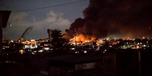 L'Assemblée nationale de Libreville en feu après la réélection d'Ali Bongo au