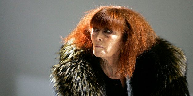 FILE - In this Jan.18 2008 file photo, French fashion designer Sonia Rykiel looks on prior to the presentation...