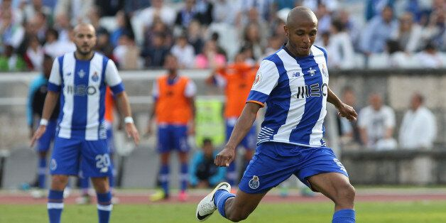 OEIRAS, PORTUGAL - MAY 22: FC Porto's forward Yacine Brahimi in action during the Portuguese Cup Final...
