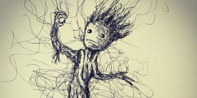 Cet artiste fait du gribouillage et ses dessins sont