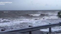 Les premières images de l'arrivée de l'ouragan Hermine en
