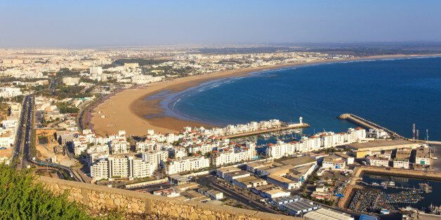 Panorama of Agadir, Morocco. A view from the