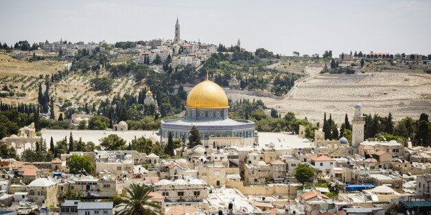 View over the Old City with the Dome of the Rock, UNESCO World Heritage Site, Jerusalem, Israel, Middle