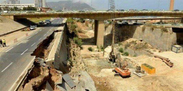 La route du port d'Oran endommagée par un glissement de terrain, le trafic