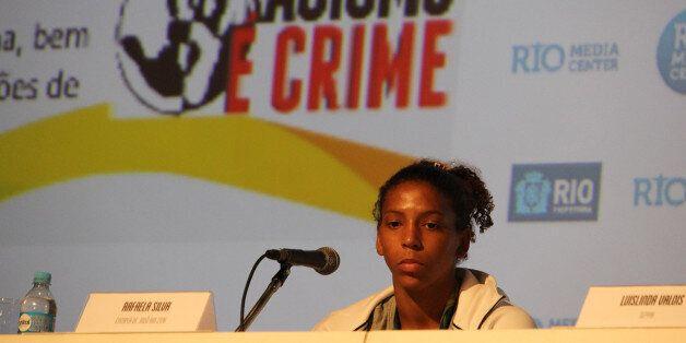 Rafaela Silva lors d'une conférence de presse sur l'égalité raciale et le combat contre le racisme, le...