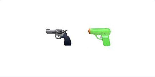 Revolver ou pistolet à eau ? Débat autour d'un nouvel émoticône