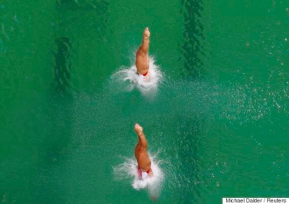 Rio 2016: L'eau de la piscine olympique est devenue verte et personne ne sait
