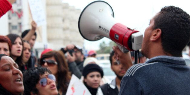 06/12/2011Bardo, Tunisia.Demonstrations in front of the national constituent assembly.Manifestations...