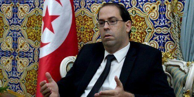 Le Premier ministre tunisien désigné Youssef Chahed, le 20 août 2016 à Carthage, près de