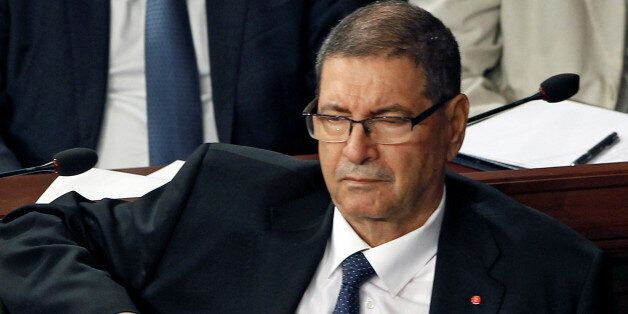 Tunisia's Prime Minister Habib Essid attends a plenary session at the Assembly of People's Representatives...