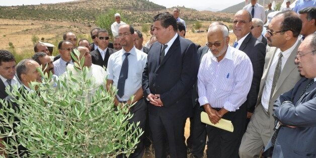 Le ministre de l'Agriculture Aziz Akhannouch lors d'une visite à Tadla lors de la phase d'études de l'agropole...