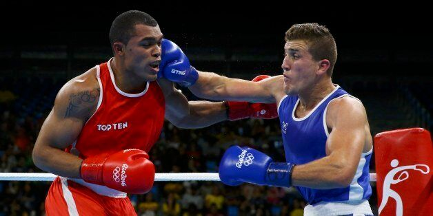 2016 Rio Olympics - Boxing - Preliminary - Men's Light Heavy (81kg) Round of 16 Bout 116 - Riocentro...