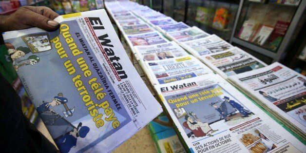 El Watan newspaper title on the closure of the El Watan TV more chain broadcasting on that channel in...