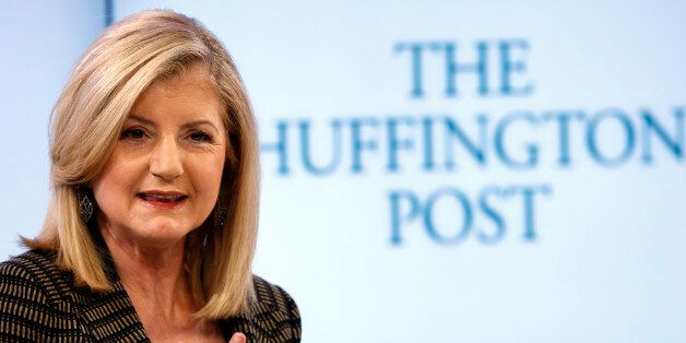 Arianna Huffington, president and Editor-in-Chief of The Huffington Post Media Group attends a session...
