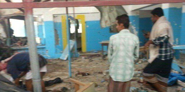 Photo fournie par Médecins sans frontières (MSF) montrant les dégâts dans un hôpital touché par un raid...