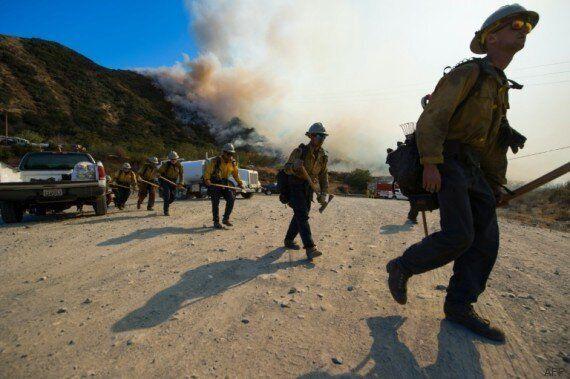 Californie: l'incendie de Blue Cut poursuit ses