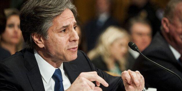 Antony Blinken, U.S. Deputy Secretary of State, testifies at a Senate Appropriations subcommittee hearing...