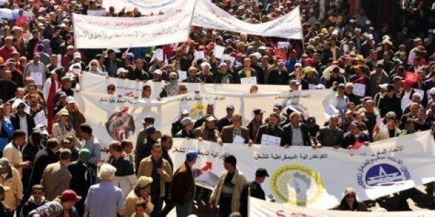Manifestation de syndicats au