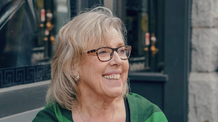 Green Party Leader Elizabeth May is shown in Victoria, B.C. in July 2019.