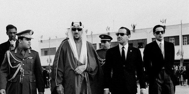 Hassan II recevant le roi Saoud ben Abdelaziz Al Saoud/Getty