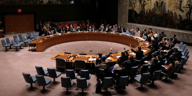 The United Nations Security Council votes to approve a resolution in Burundi at the United Nations in...