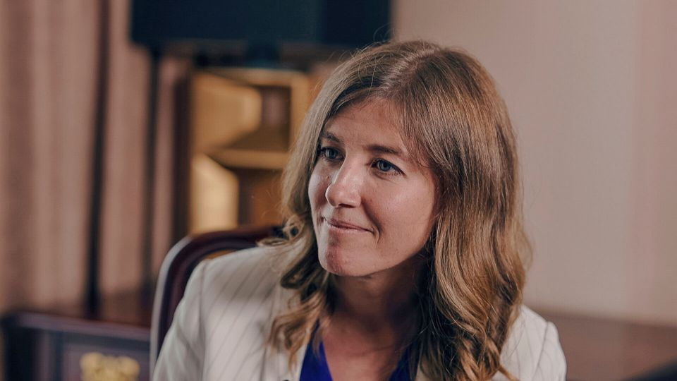 Laurel Collins, the NDP candidate in Victoria, is shown in an interview with HuffPost Canada in July