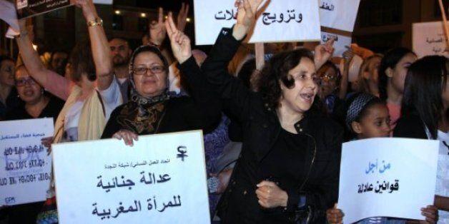 Manifestation contre les violences faites aux femmes, Rabat, juin