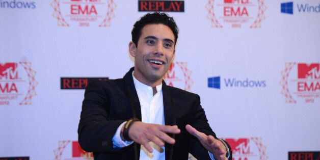 Moroccan singer Ahmed Soultan poses for photographers on the red carpet for the 2012 MTV European Music...