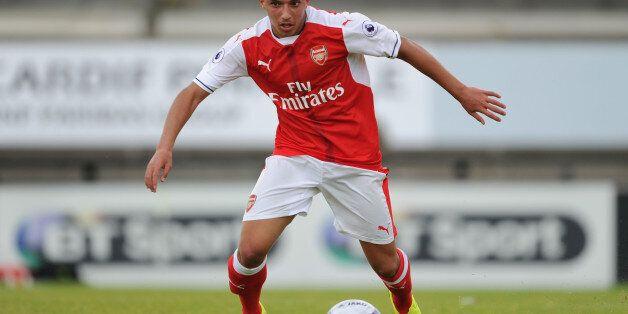 BOREHAMWOOD, ENGLAND - JULY 16: Ismael Bennacer of Arsenal during a pre season friendly between Borehamwood...