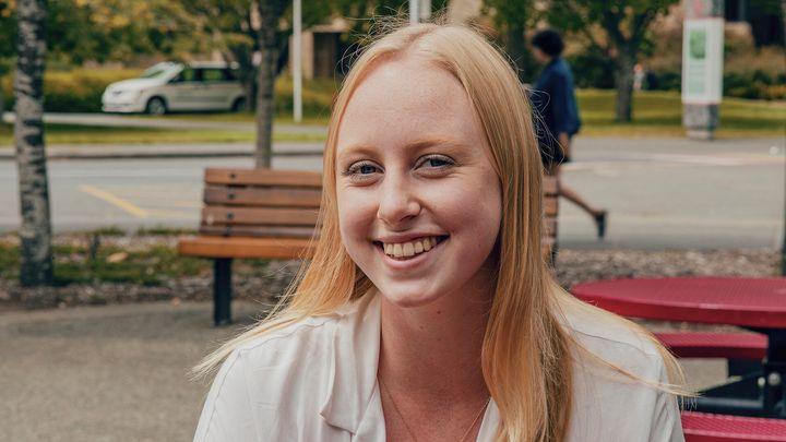 Juliet Watts, 19, is shown in Victoria in July 2019.