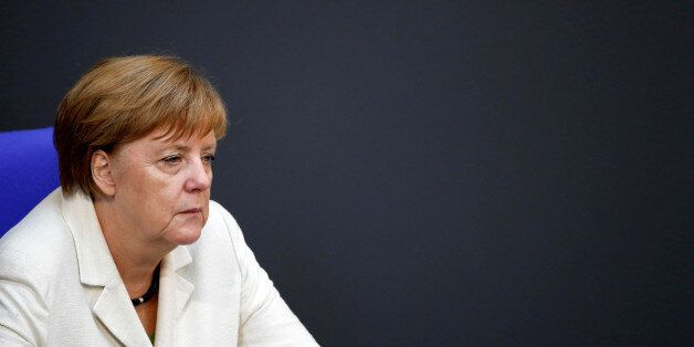 German Chancellor Angela Merkel attends a debate on the consequences of the Brexit vote at the lower...