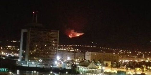 Un incendie à la frontière de Melilla près des camps de
