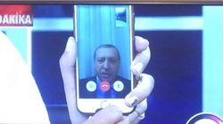 Erdogan s'exprime sur la tentative de coup d'État à la télévision par