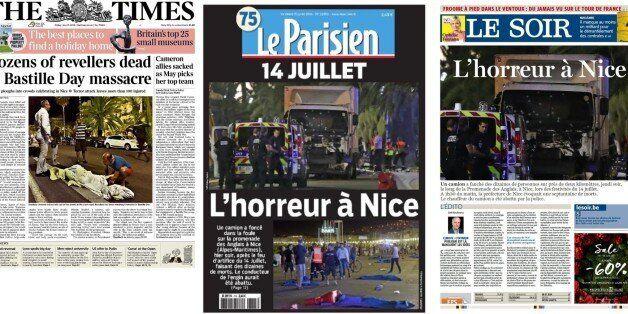 Les Unes des journaux français après l'attaque au camion à