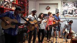 Métro d'Alger: une scène musicale pour les jeunes artistes pendant le