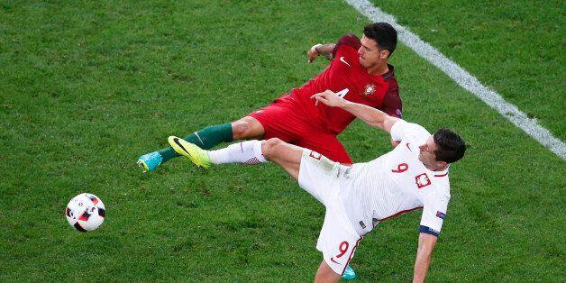 Football Soccer - Poland v Portugal - EURO 2016 - Quarter Final - Stade Velodrome, Marseille, France...