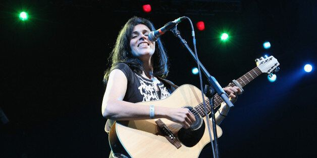 NEW YORK, NY - JULY 07: Algerian singer Souad Massi performs as part of Celebrate Brooklyn! at the Prospect...